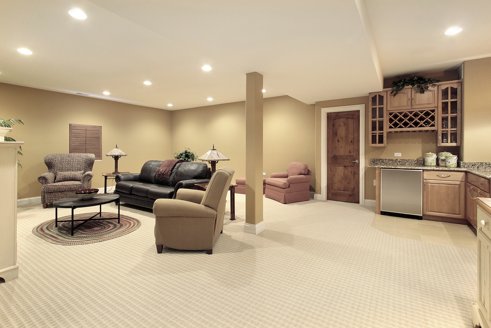 Does concrete lifting work on finished floors lift for Cost to finish basement utah