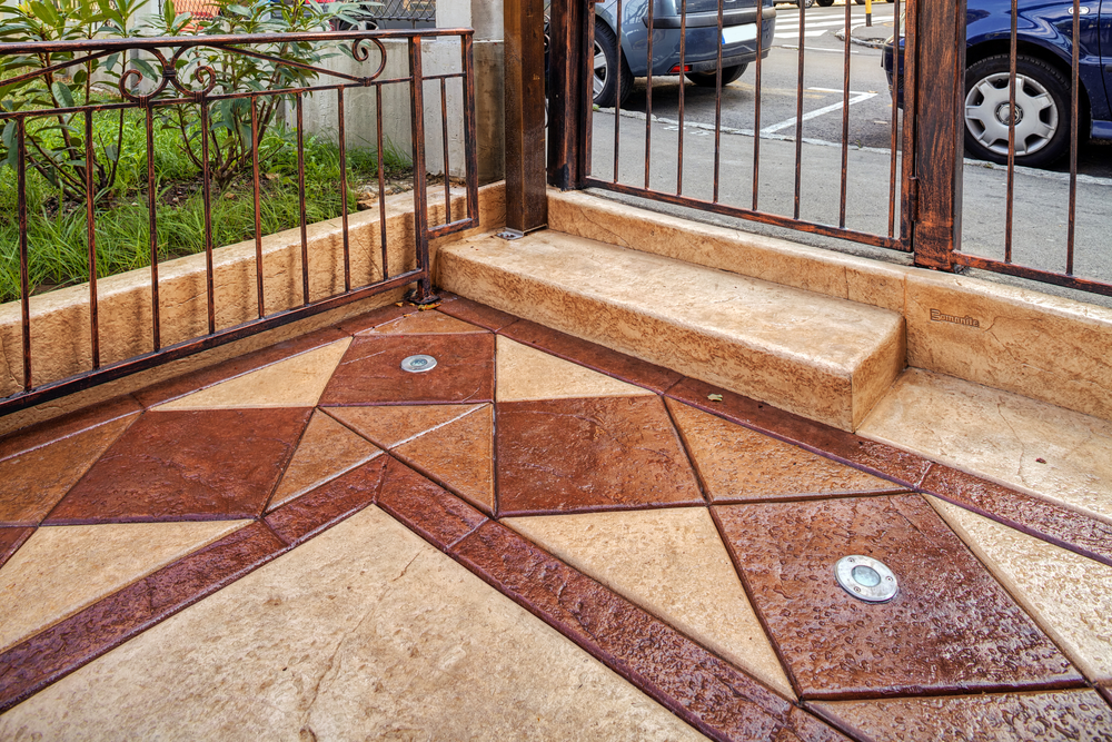 Decorative Cement Slabs : Foamjacking for stamped decorative concrete lift right