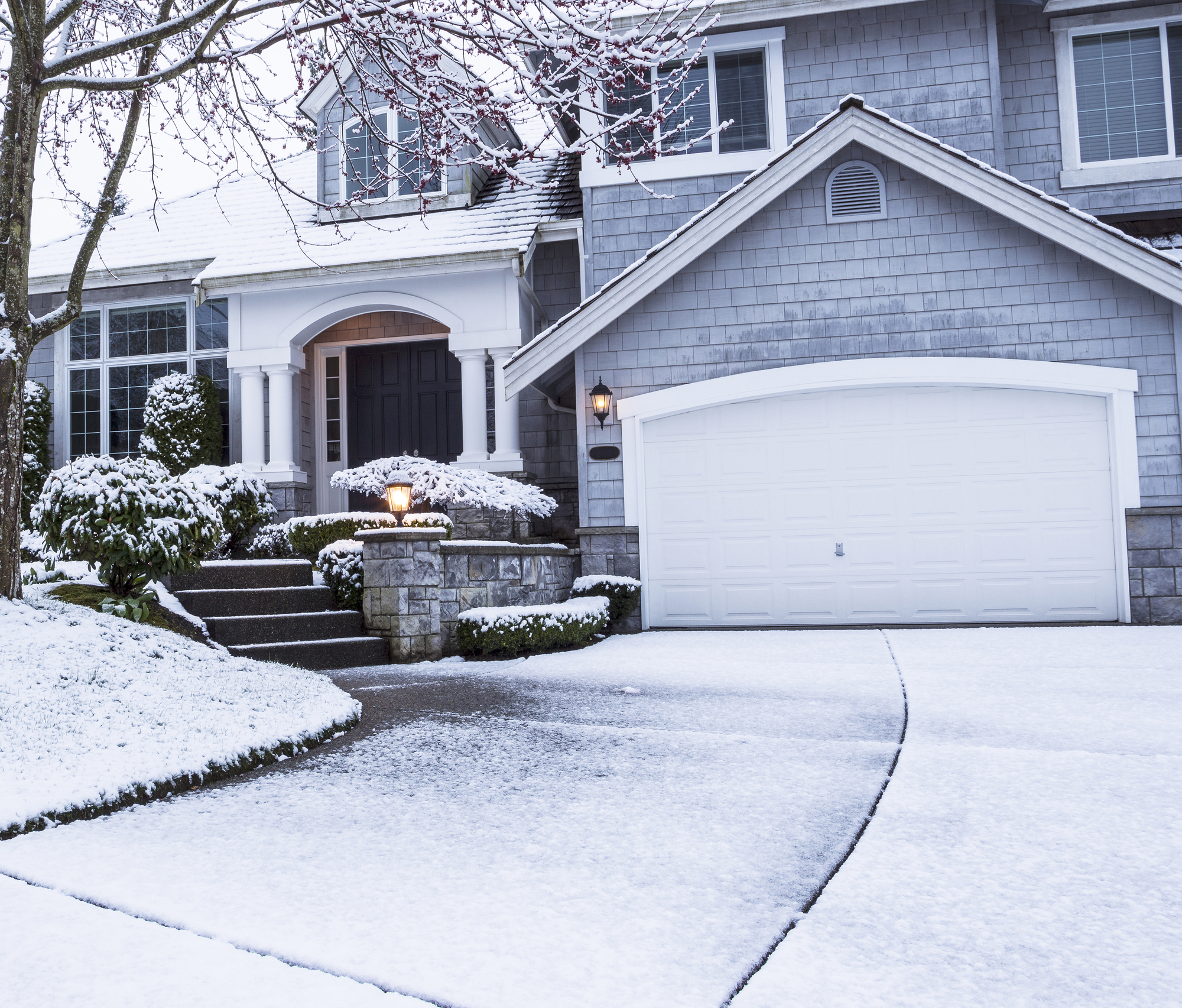 Prevent cracked concrete driveways in winter lift right for What happens to concrete if it freezes